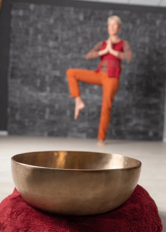 Kombination von Yoga und Klang - Andrea Klug